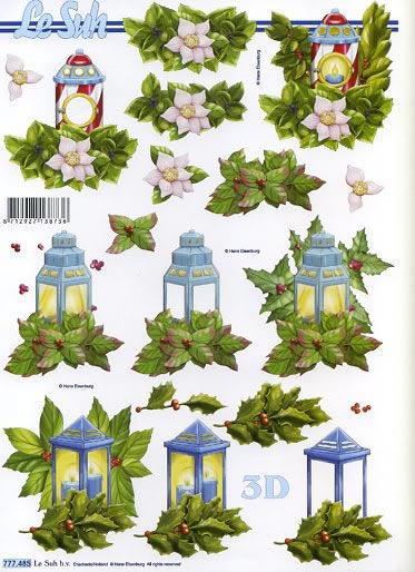 3D Bogen Weihnachtslaterne - Format A4,  Le Suh,  3D Bogen,  Laternen