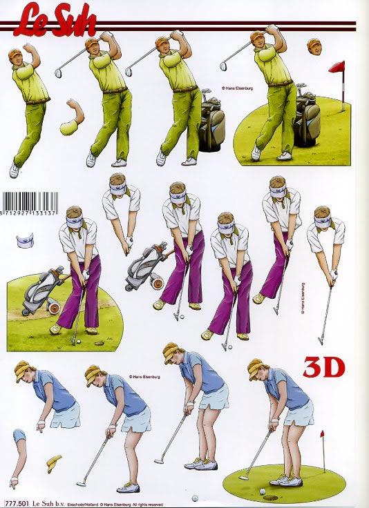 3D Bogen Golf - Format A4