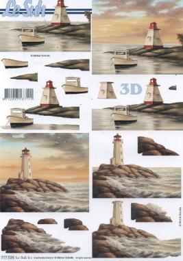 3D Bogen nach Motiven,  Regionen - Strand / Meer - Leuchttürme,  Le Suh,  3D Bogen,  Leuchtturm