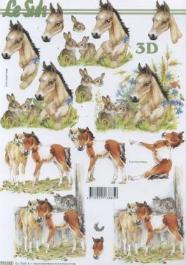 3D Bogen Pferde - Format A4,  Tiere - Pferde,  Le Suh,  3D Bogen,  Pferde,  Hasen