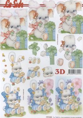 3D Bogen / Le Suh 777-.....,  Spielsachen - Stofftiere,  Le Suh,  3D Bogen,  Elefant,  Hasen
