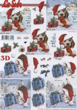 3D Bogen / Art, Tiere - Hunde,  Tiere - Katzen,  Le Suh,  3D Bogen,  Katzen,  Hunde,  Geschenke