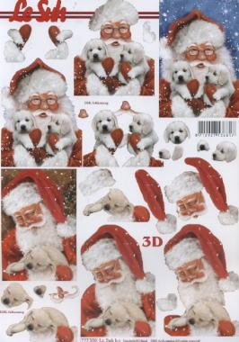 3D Bogen, Tiere - Hunde,  Weihnachten - Weihnachtsmann,  Le Suh,  3D Bogen,  Weihnachtsmann,  Hunde