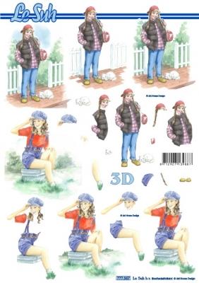 3D Bogen / Le Suh 777-.....,  Menschen - Personen,  Le Suh,  Sommer,  3D Bogen,  Mädchen