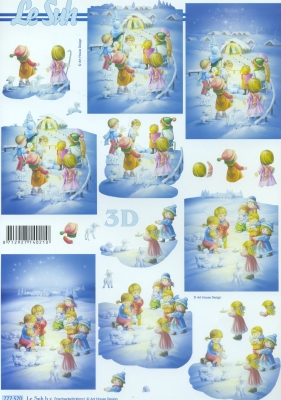 3D Bogen / Art, Winter - Schnee,  Menschen - Kinder,  Le Suh,  Winter,  3D Bogen,  Schnee,  Kinder