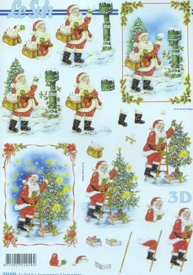 3D Bogen / Weihnachtsmann, Weihnachten - Weihnachtsbaum,  Weihnachten - Weihnachtsmann,  Le Suh,  Weihnachten,  3D Bogen,  Weihnachtsbaum,  Weihnachtsmann