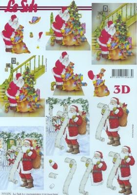 3D Bogen, Weihnachten - Weihnachtsbaum,  Weihnachten - Weihnachtsmann,  Le Suh,  Weihnachten,  3D Bogen,  Weihnachtsbaum,  Weihnachtsmann