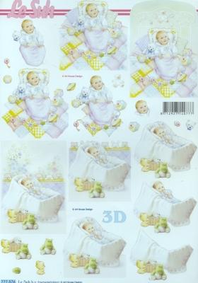 3D Bogen Format A4,  Ereignisse - Geburt,  Le Suh,  3D Bogen,  Geburt,  Baby