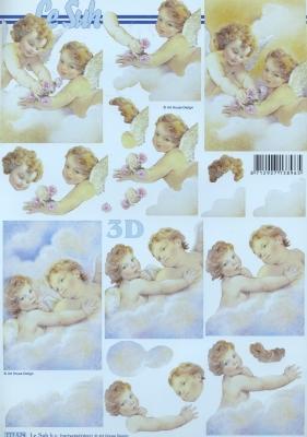 3D Bogen Format A4,  Weihnachten - Engel,  Le Suh,  3D Bogen,  Engel
