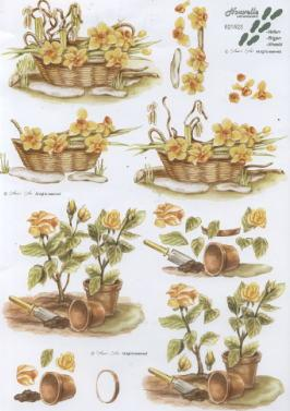 3D Bogen / Nouvelle,  Blumen - Osterglocken,  Le Suh,  3D Bogen,  Narzissen