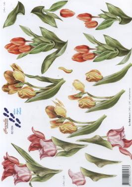 3D Bogen Tulpen - Format A4,  Blumen - Tulpen,  Le Suh,  3D Bogen,  Tulpen