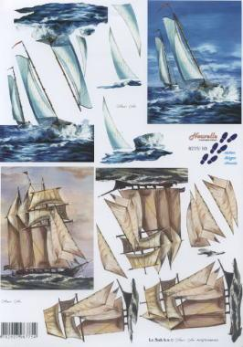 3D Bogen Segelschiffe - Format A4,  Regionen - Strand / Meer - Schiffe,  Le Suh,  3D Bogen,  Segelschiff