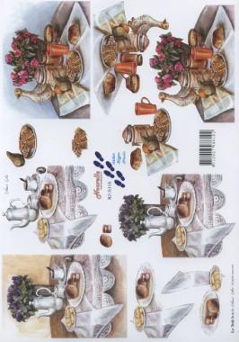 3D Bogen Frühstückstisch - Format A4,  Essen -  Sonstiges,  Le Suh,  3D Bogen,  Frühstück