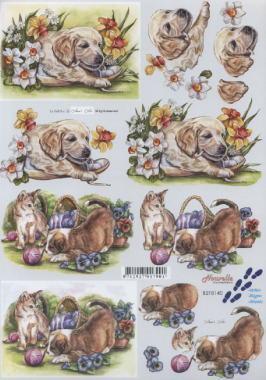 3D Bogen Hunde+Katzen - Format A4,  Tiere - Hunde,  Le Suh,  3D Bogen,  Hunde