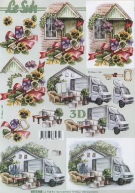 3D Bogen Umzug - Format A4