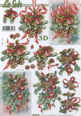 3D Bogen Weihnachts Deko - Format A4,  Weihnachten - Adventskranz,  Le Suh,  Weihnachten,  3D Bogen
