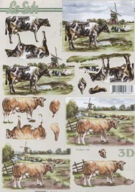 3D Bogen / Nouvelle 8215-.....,  Tiere - Kühe,  Le Suh,  3D Bogen,  Kühe