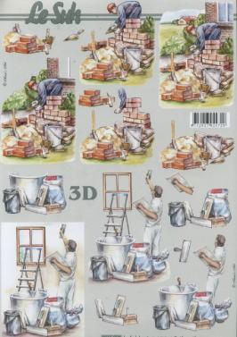 3D Bogen / Art,  Menschen - Personen,  Le Suh,  3D Bogen,  Handwerk,  Maurer