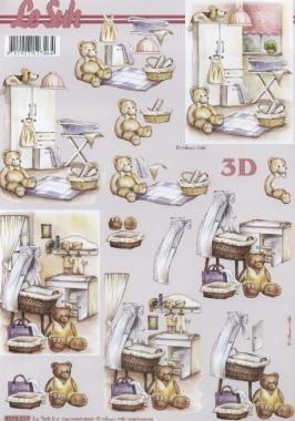 3D Bogen Kinderzimmer - Format A4,  Spielsachen - Stofftiere,  Le Suh,  3D Bogen,  Teddybär