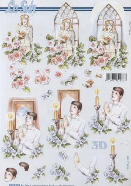 3D Bogen Kommunion Mäd./Junge - Format A4
