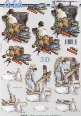3D Bogen Berufe Pilot+Müller - Format A4,  Sonstiges -  Sonstiges,  Le Suh,  3D Bogen,  Beruf,  Pilot