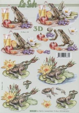 3D Bogen nach Jahreszeiten,  Tiere - Frösche,  Le Suh,  Sommer,  3D Bogen,  Frösche