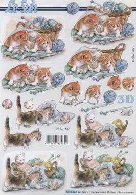 3D Bogen / Art,  Tiere - Katzen,  Le Suh,  3D Bogen,  Katzen
