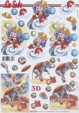 3D Bogen Zirkus - Format A4,  Sonstiges -  Sonstiges,  Le Suh,  3D Bogen,  Clown,  Zirkus