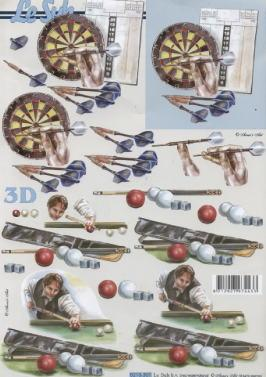 3D Bogen / Personen, Menschen - Personen,  Sport -  Sonstiger,  Le Suh,  3D Bogen,  Billiard,  Dart