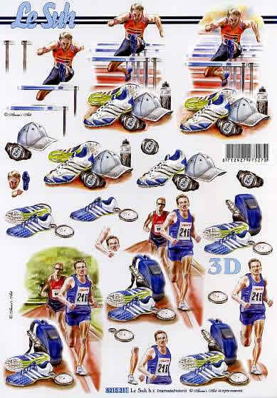 3D Bogen  - Format A4,  Sport -  Sonstiger,  Le Suh,  Sommer,  3D Bogen,  Sport