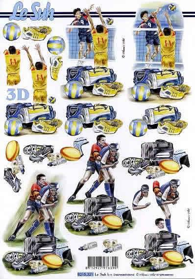 3D Bogen Vollyball/Rugby - Format A4