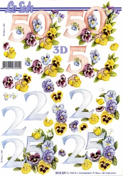 3D Bogen Jubiläum 25 und 50 - Format A4