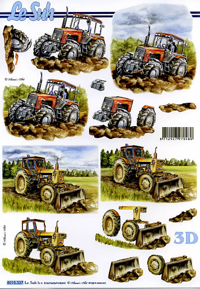 3D Bogen  - Format A4,  Le Suh,  3D Bogen,  Trecker,  Traktor