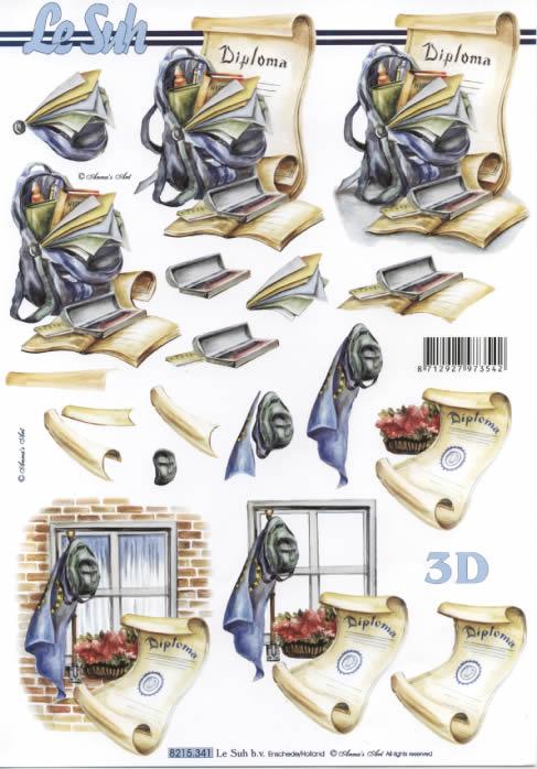 3D Bogen Urkunde+Zeugnis+Diplom - Format A4