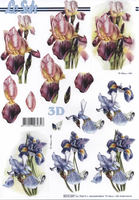 3D Bogen Blumen - Format A4,  Blumen -  Sonstige,  Le Suh,  Sommer,  3D Bogen,  Blumen