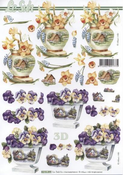 3D Bogen  - Format A4,  Blumen - Osterglocken,  Le Suh,  3D Bogen