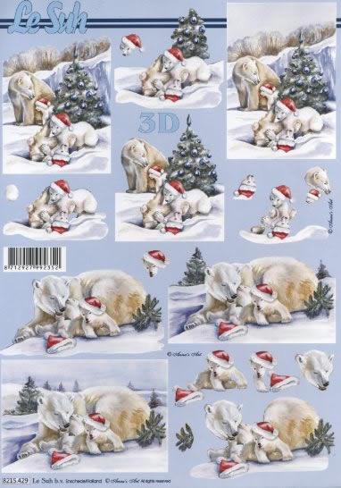 3D Bogen  - Format A4,  Winter - Schnee,  Le Suh,  3D Bogen,  Eisbären