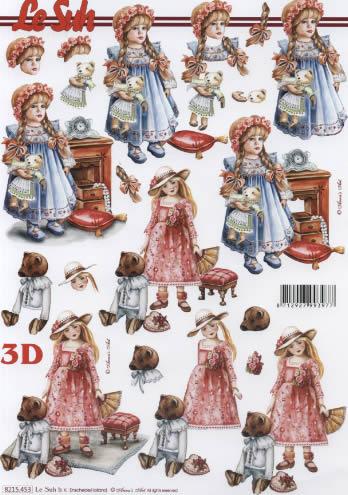 3D Bogen  - Format A4,  Spielsachen - Puppen,  Le Suh,  3D Bogen