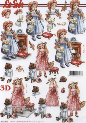 3D Bogen Puppen mit Bär - Format A4