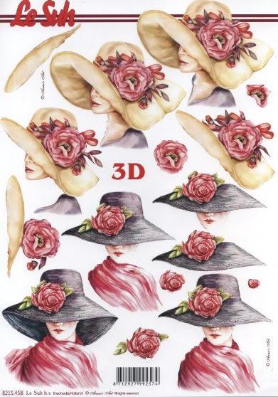 3D Bogen  - Format A4,  Menschen - Personen,  Le Suh,  3D Bogen