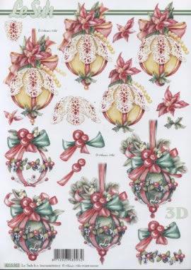 3D Bogen  - Format A4,  Weihnachten - Baumschmuck,  Le Suh,  3D Bogen,  Baumschmuck,  Kugeln