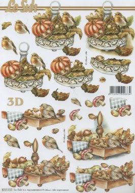 3D Bogen  - Format A4,  Tiere - Vögel,  3D Bogen
