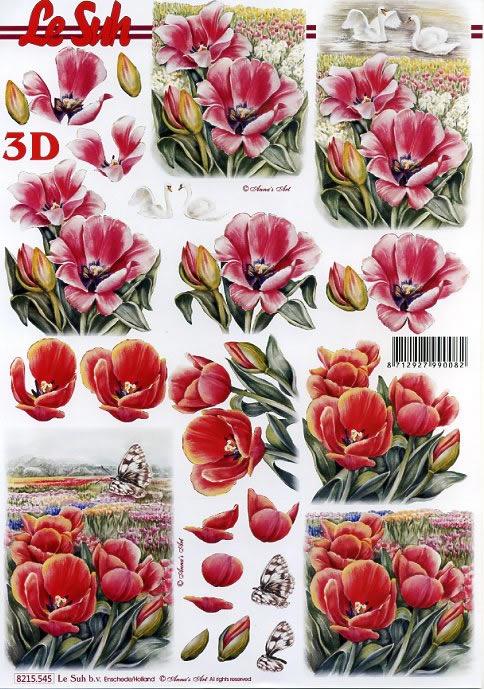 3D Bogen / Nouvelle 8215-.....,  Le Suh,  3D Bogen,  Schwan,  Berge