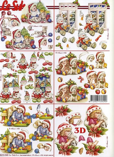 3D Bogen 6x Weihnachtsmotive - Format A4