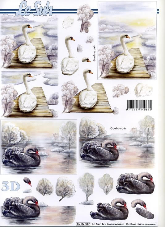 3D Bogen / Nouvelle 8215-.....,  Tiere,  3D Bogen,  Schwäne