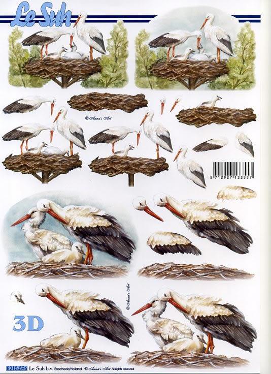 3D Bogen / Tiere,  Tiere,  Le Suh,  3D Bogen,  Störche