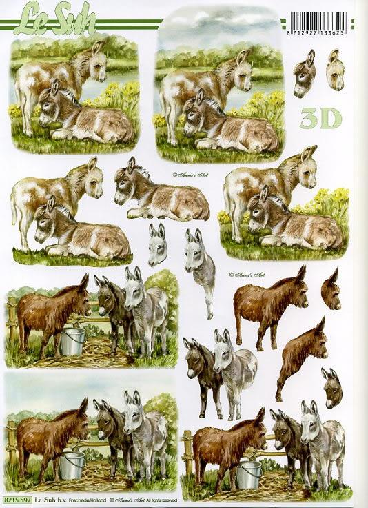 3D Bogen / Art,  Tiere -  Sonstige,  Le Suh,  3D Bogen,  Esel