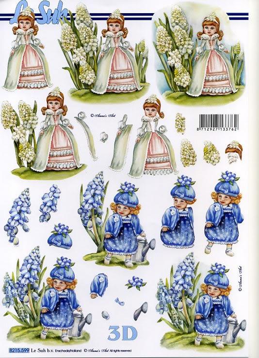3D Bogen nach Motiven,  Blumen - Hyazinthen,  Le Suh,  3D Bogen,  Mädchen,  Hyazinthen