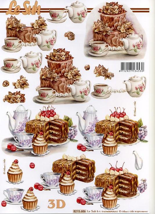 3D Bogen Torten - Format A4