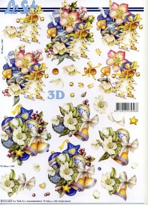 3D Bogen / Weinhachten,  Weihnachten - Baumschmuck,  Le Suh,  3D Bogen,  Glocken,  Baumkugeln